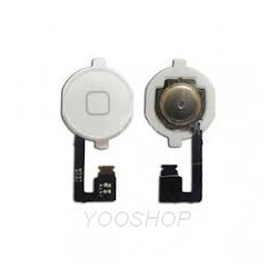 Nappe bouton home + bouton home blanc complet Iphone 4