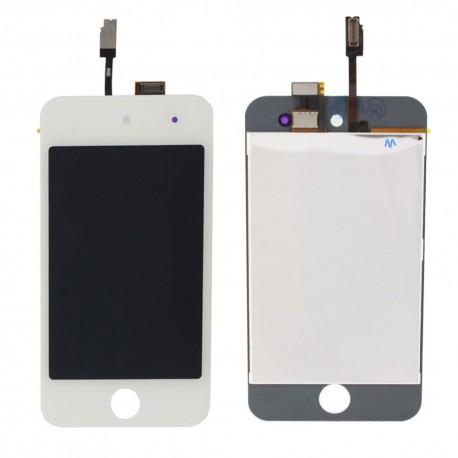 iPod Touch 4 Blanc - Vitre Tactile Blanche et écran LCD