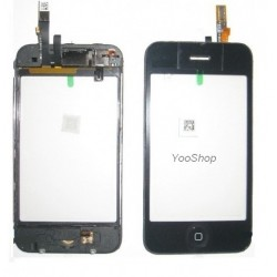 Vitre tactile noir + bouton home + chassis pour IPhone 3G