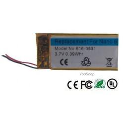 Batterie pour iPod Nano 6 ref : 616-0531