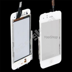 Vitre tactile blanche + bouton home + chassis pour IPhone 3G