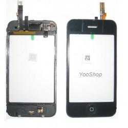 Vitre tactile noir + bouton home + chassis pour IPhone 3GS