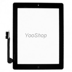 iPad 3 Noir - Vitre glass tactile + outil + stickers