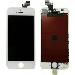 Vitre Tactile et écran LCD HD Rétina Iphone 5 blanc + vitre verre trempé