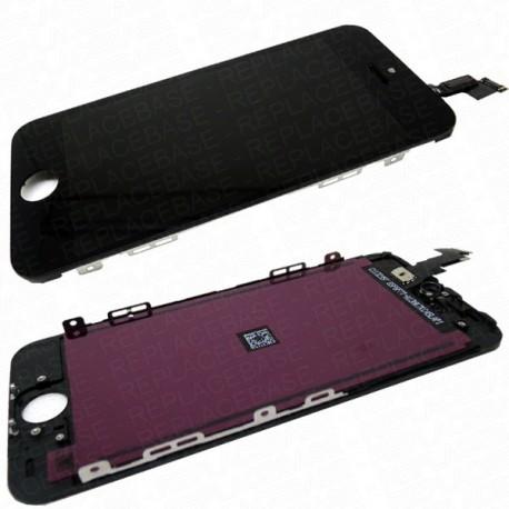 5S Vitre Tactile et écran LCD HD Rétina iPhone 5S noir + vitre verre trempé