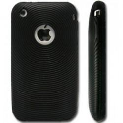 Housse Silicone souple cerclé noir iPhone 3G/3GS