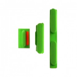 Set de 3 boutons Power, Mute, Volume Iphone 5C vert