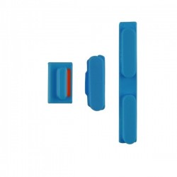 Set de 3 boutons Power, Mute, Volume Iphone 5C bleu