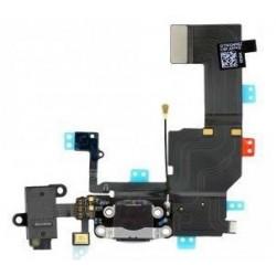 Dock Connecteur de charge Lightning avec antenne wifi, jack et micro assemblés Noir pour IPhone 5C ref 821-1833-A