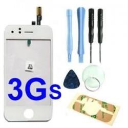 Vitre Ecran Tactile pour Iphone 3GS Blanc + adhésif