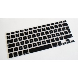 "Protection clavier Noir Français Azerty macbook 13/15/17"" unibody Rétina 13 & 15"