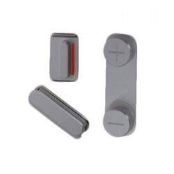 Set de 3 Boutons Mute volume et power Silver pour Iphone 5S
