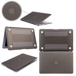 "Coque rigide macbook pro 13"" A1278 noir mat toucher velours"