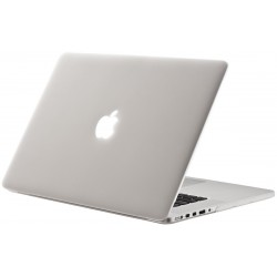 "Coque rigide macbook pro 13"" A1278 blanc mat transparent toucher soyeux"