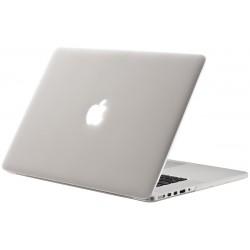 """Coque rigide Macbook pro 15"""" A1286 2008 2012 blanc mat transparent toucher velours"""