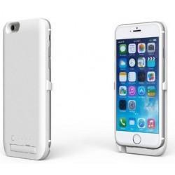 Batterie Externe pour iPhone 6 plus Rechargeable et Coque Etui Housse Alimentation - blanc