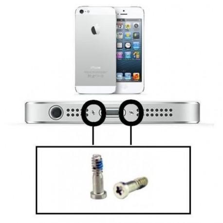 Kit de 2 vis bas Argent Silver Apple Iphone 5