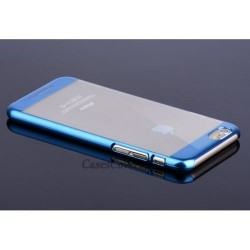 Etui semi rigide haut de gamme Joyroom authentique pour iPhone 6 Plus 5,5 pouces Bleu Clair Metal