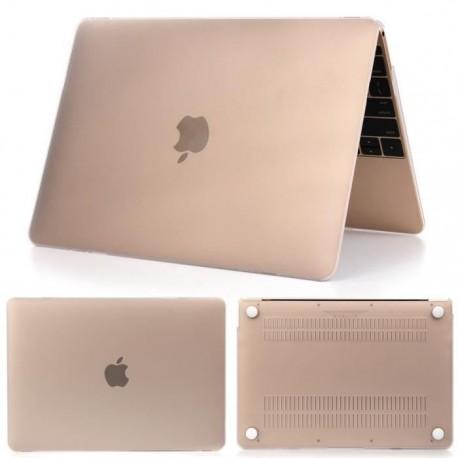 "Coque rigide Macbook rétina 12"" A1534 blanc mat transparent toucher velours"