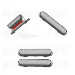 Set de 3 Boutons Mute volume et power Silver pour Iphone 5