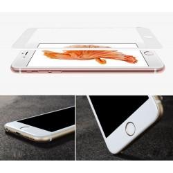 6S Plus 6 Plus Protection d'écran Blanc Verre Trempé Incurvé 3D