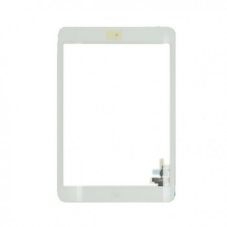 iPad mini 3 - Vitre Glass Tactile blanc