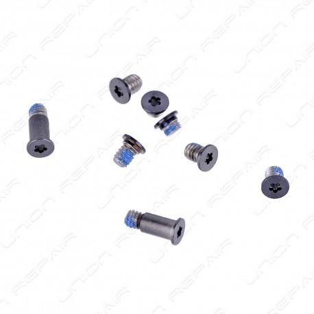 "Lot de 8 vis gris foncé bottom screws set Macbook 12"" A1534"