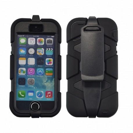 coque etui intégrale militaire noir pour apple iphone 5c film