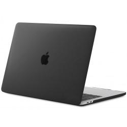 Coque rigide Macbook pro 13 A1708 A1706 A1989 A2159 2016/2020 noir mat transparent toucher soyeux