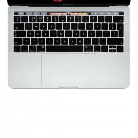 "Protection clavier Noir UK Qwerty macbook pro touchbar 13"" A1706 15"" A1707"