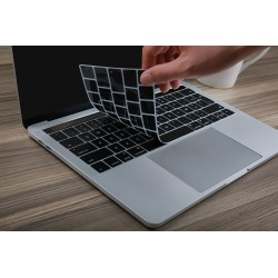 "Protection clavier Noir UK Qwerty macbook pro 13"" A1708 sans touchbar"