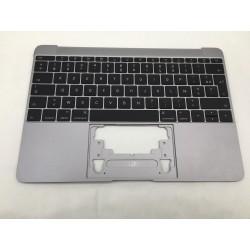 """Topcase et clavier Français macbook 12"""" A1534 Gris Sideral 2016"""