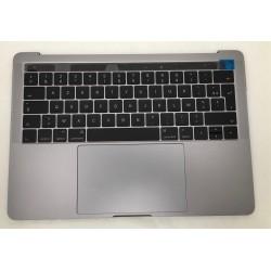 """Topcase complet Français macbook pro 13"""" A1706 Gris Sideral"""