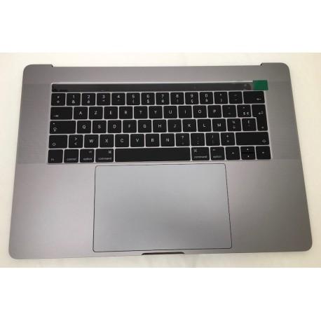 """Topcase et clavier Français Complet avec touchbar, trackpad, batterie haut parleur macbook 15"""" A1707 Touchbar Gris Sideral"""