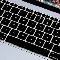 "Protection clavier Noir Azerty macbook pro 13"" A1708 sans touchbar"