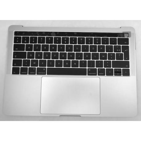 """Topcase complet Français macbook pro 13"""" Touchbar A1706 Argent Silver"""