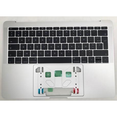 """Topcase Clavier Français macbook pro 13"""" A1708 Argent Silver SANS TOUCHBAR"""
