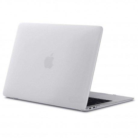 "Coque rigide Macbook Air 13"" A1932 2018 blanc mat toucher doux"