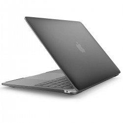 """Coque rigide Macbook Air 13"""" A1932 2018 noir mat toucher doux"""