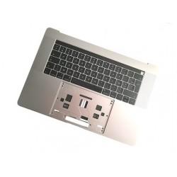 """Topcase et clavier Français 15"""" A1707 Touchbar Silver Argent"""