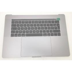 """Topcase et clavier Français Complet avec touchbar, trackpad, batterie haut parleur macbook 15"""" A1707 Touchbar Argent"""
