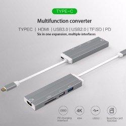 Adaptateur USB-C avec Hub USB 3.0 USB-C et HDMI