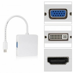 MacBook, MacbookPro et iMac - Câble Mini Display Port VGA/DVI/HDMI