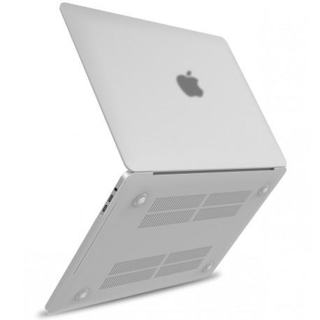 Coque rigide Macbook pro 13 A1708 A1706 2016 2017 blanc mat transparent toucher soyeux
