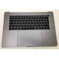 """Topcase Complet et clavier Français macbook 15"""" A1990 Touchbar Gris Sideral"""